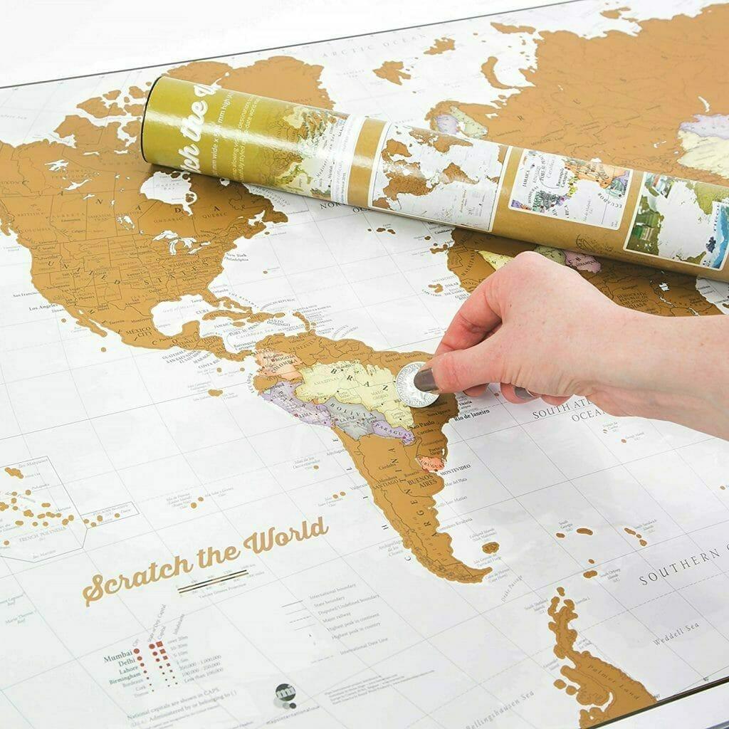 mappa da grattare per viaggiatori frequenti