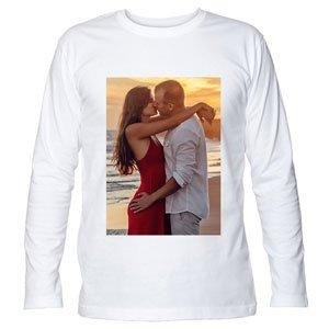 t shirt a manica lunga personalizzata con foto