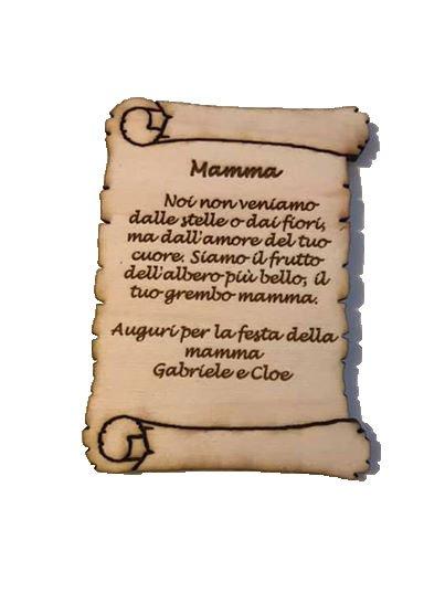 pergamena personalizzata in legno