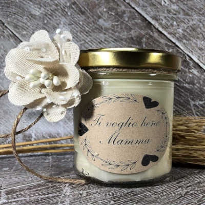 candela profumata personalizzata