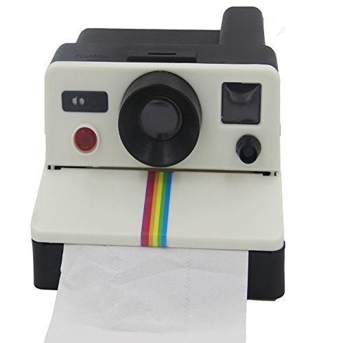 porta carta igienica a forma di macchina fotografica