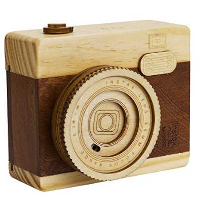music box retro' a forma di fotocamera digitale