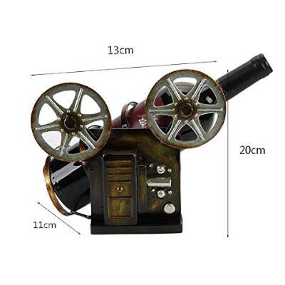 portabottiglie da tavolo a forma di vecchia macchina fotografica