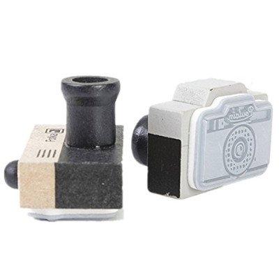 timbro in legno personalizzato a forma di macchina fotografica, idea regalo fotografo