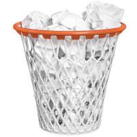 cestino a forma di canestro di basket