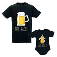 coppia di t-shirt papà e figlio