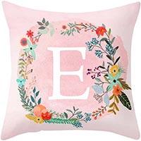 federa cuscino con iniziale rosa
