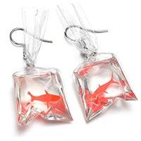orecchini pesce rosso idea regalo sotto i 5 euro