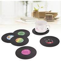 sottobicchiere a forma di cd vinilico