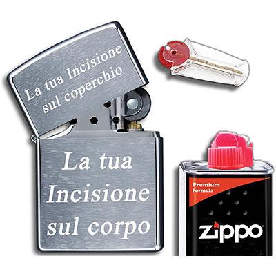 zippo personalizzato idea regalo per fumatori