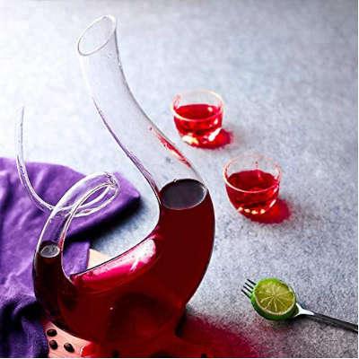 decanter in vino di vetro idea regalo amanti vino