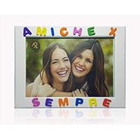 Cornici per foto in legno con la scritta Amiche X Sempre idea regalo migliore amica