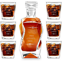Murrano Set Decanter per Whisky in vetro idea regalo per uomo per i 30 anni di matrimonio