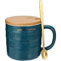 Tazza da caffè con coperchio e cucchiaio idea regalo per la migliore amica