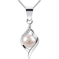 Ciondolo in argento con perle idea regalo trentesimo anniversario di matrimonio per donna