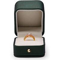 scatola per anelli in pelle idea regalo per accompagnare un anello regalo per anniversario matrimonio 30 anni