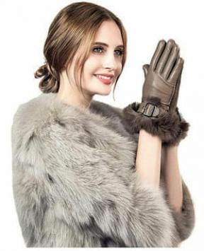 guanti in pelle da donna
