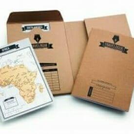 Diario di viaggio con mappe da grattare