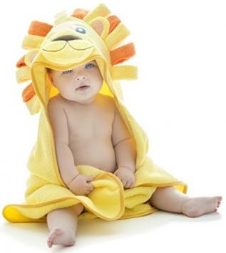 asciugamano bimbo leoncino