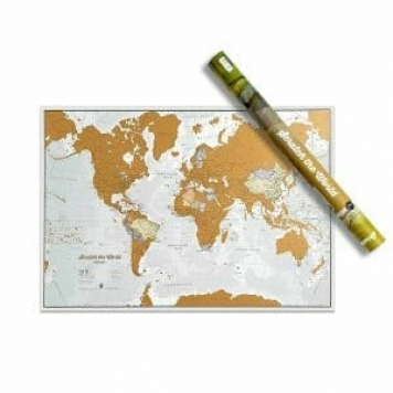 idea regalo viaggi, mappa da grattare