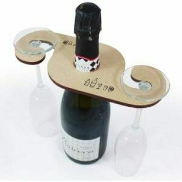 idea regalo porta bicchieri in legno